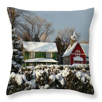 October Snow Throw Pillow