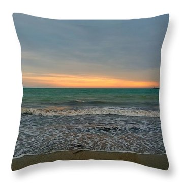October Sunrise Throw Pillow by Anne Kotan