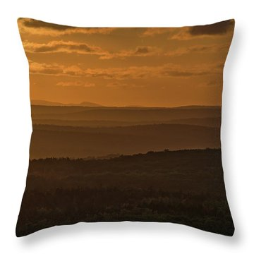 October Sunset In Acadia Throw Pillow