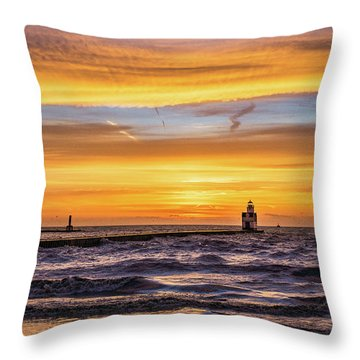 Throw Pillow featuring the photograph October Surprise by Bill Pevlor