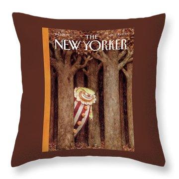 October Surprise Throw Pillow