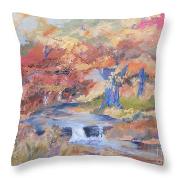 October Walk Throw Pillow