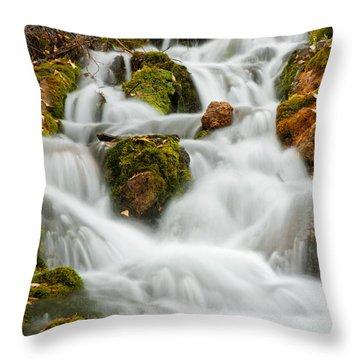 October Waterfall Throw Pillow