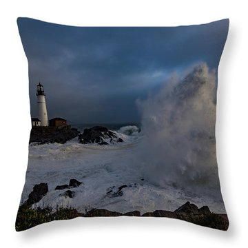 Octobercane Throw Pillow