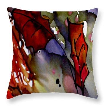 Octoberfirst Throw Pillow by Susan Kubes