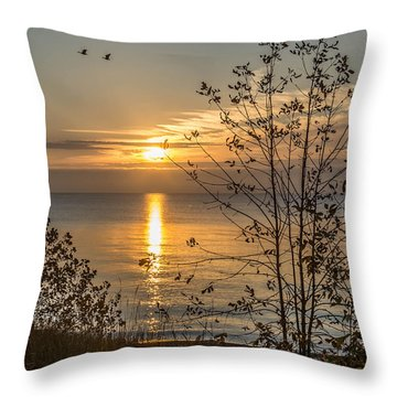 October Sky Throw Pillow