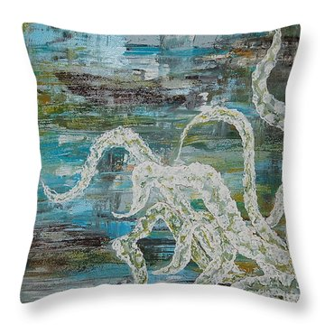 Octopus Of The Deep Throw Pillow