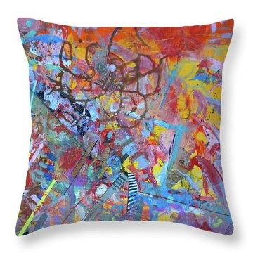 Octopus Playground Throw Pillow
