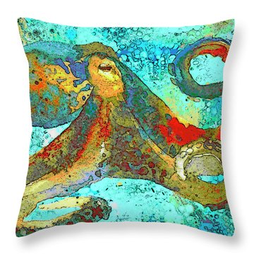 Caribbean Tango Throw Pillow