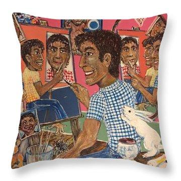 Octuple Self-portrait Throw Pillow