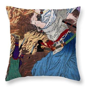 Oda Nobunaga, Japanese Daimyo, 16th Throw Pillow