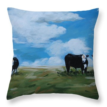 Odd Cow Out Throw Pillow