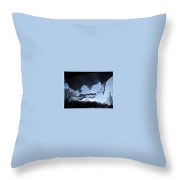 Odd Icicle Throw Pillow
