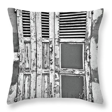 Throw Pillow featuring the photograph Odd Pair - Shutters by Nikolyn McDonald