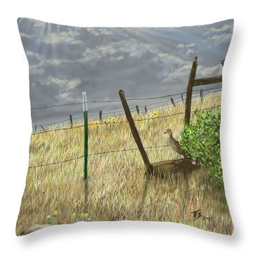 Odd Post Throw Pillow