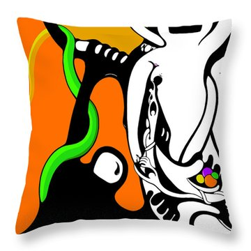 Oddballs Throw Pillow