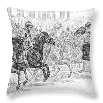 Odds Are... - Tb Race Horse Print Throw Pillow by Kelli Swan