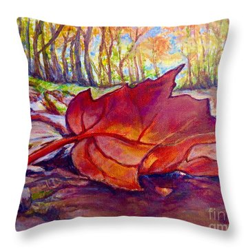 Ode To A Fallen Leaf Painting Throw Pillow