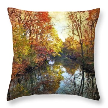 Throw Pillow featuring the photograph Ode To Autumn by Jessica Jenney