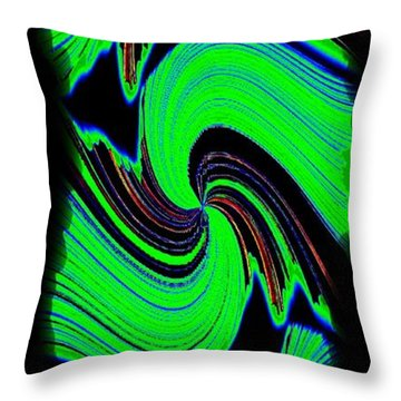 Throw Pillow featuring the digital art Ode To Green by Will Borden