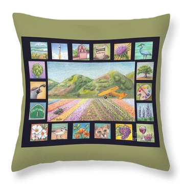 Ode To Lompoc Throw Pillow