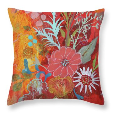 Throw Pillow featuring the painting Ode To Spring by Robin Maria Pedrero