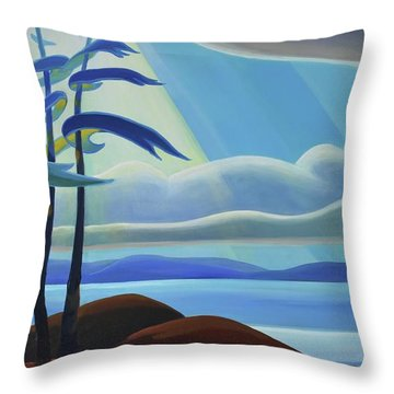 Ode To The North II - Center Panel Throw Pillow