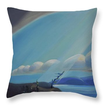 Ode To The North II - Left Panel Throw Pillow