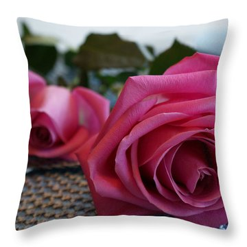 Ode To The Rose Throw Pillow by Joanne Smoley