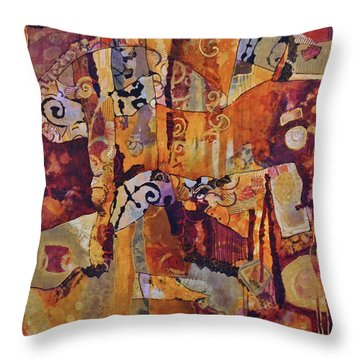 Ode To Warp And Weft Throw Pillow