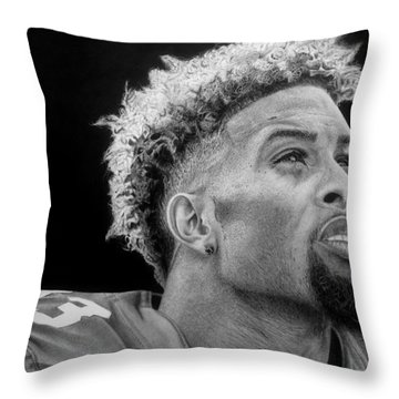 Odell Beckham Jr. Drawing Throw Pillow