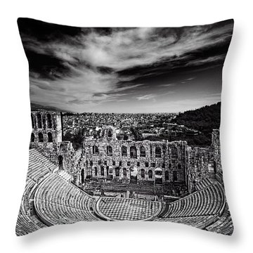 Odeon Of Herodes Atticus Throw Pillow by Ian Good