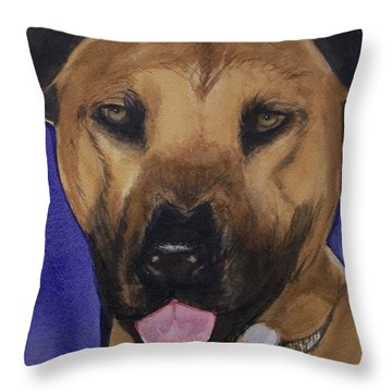 Throw Pillow featuring the painting Odin by Lynn Babineau