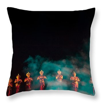 Odissi Princesses Throw Pillow