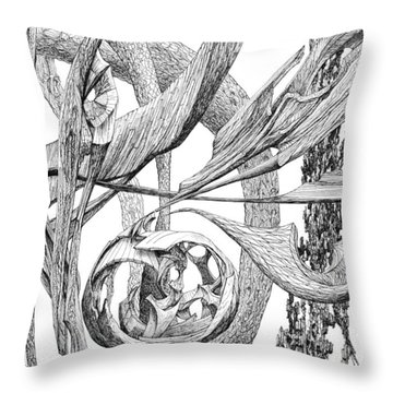 Of Another Plane Throw Pillow