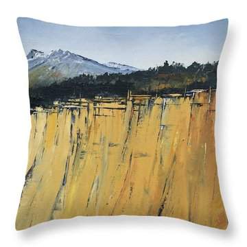 Of Bluff And Mountain Throw Pillow