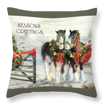 Of Christmas Past  Throw Pillow