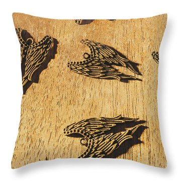 Of Devils And Angels Throw Pillow