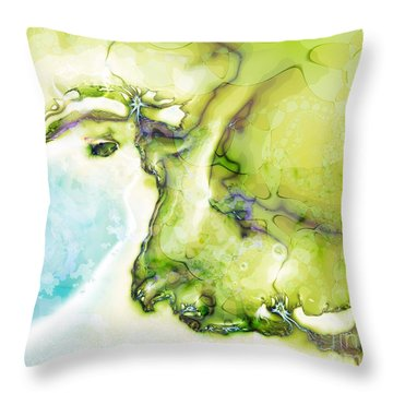 Of Earth And Water Throw Pillow