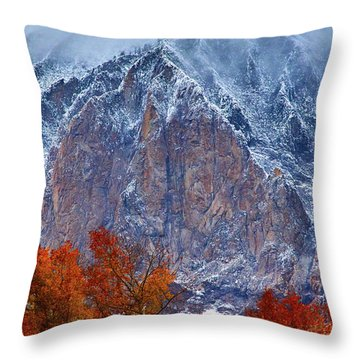 Of Fire And Ice Throw Pillow