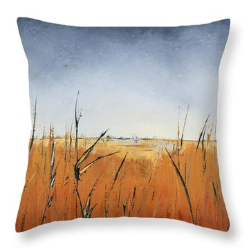 Of Grass And Seed Throw Pillow by Carolyn Doe