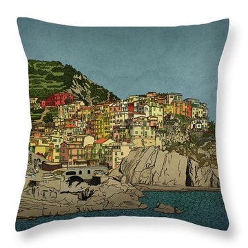 Of Houses And Hills Throw Pillow