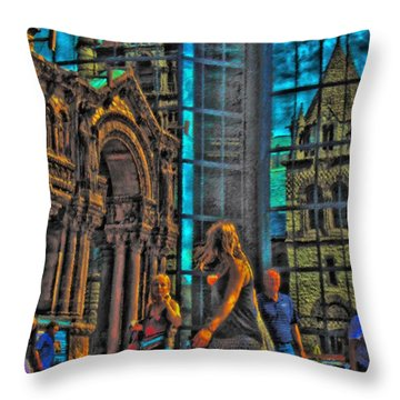 Of Light And Mirrors Throw Pillow