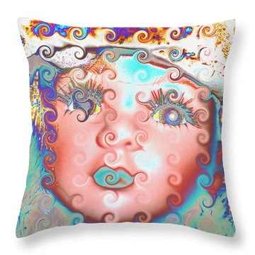 Of Many Colors Throw Pillow