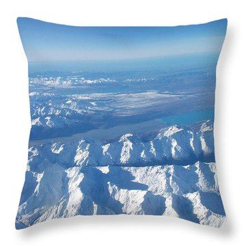 Of Peaks And Lakes Throw Pillow