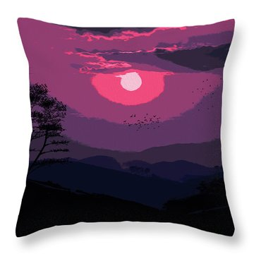 Of Skies And Magic Throw Pillow by Andrea Mazzocchetti