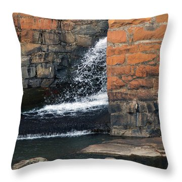Of Texture And Flow Throw Pillow