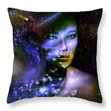Throw Pillow featuring the digital art Of The Stars by Shadowlea Is