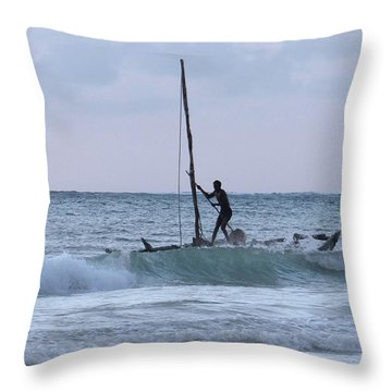 Off Fishing Throw Pillow