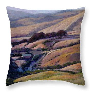 Off Jalama Road Throw Pillow